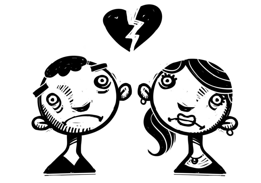 How the breaking of a relationship changes the personality